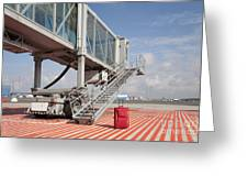 Luggage At A Gate Bridge Greeting Card by Jaak Nilson
