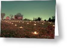 Luminaries In The Pasture 11 Greeting Card