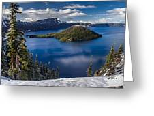 Luminous Crater Lake Greeting Card