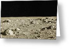 Lunar Surface Greeting Card by Science Source