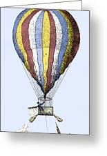 Lunardi's Balloon, 1784 Greeting Card