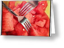 #lunch #watermelon With My #mommy <3 Greeting Card