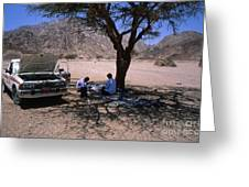 Lunchtime In The Desert Of Sinai Greeting Card