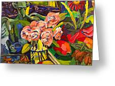 Lush Land With Wizard Greeting Card