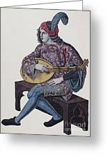 Lute Player, 1839 Greeting Card