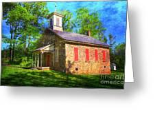 Lutz-franklin Schoolhouse Greeting Card by Paul Ward