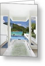 Luxury Bathroom  Greeting Card by Setsiri Silapasuwanchai