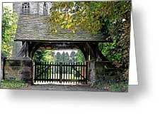 Lychgate To St Paul's Church - Scropton Greeting Card