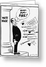 Lyndon B. Johnson: Cartoon Greeting Card by Granger