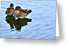 Ma And Pa Wood Duck Greeting Card