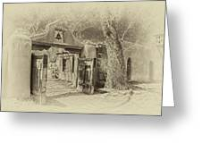 Mabel's Gate As Antique Print Greeting Card