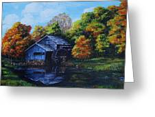 Mabry Mill In Autumn Greeting Card