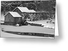 Mabry Mill In Black And White Greeting Card by Joe Elliott
