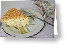 Macadamia Nut Cream Pie Slice Greeting Card