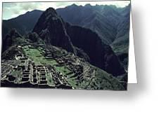 Machu Picchu, A Pre-columian Inca Ruin Greeting Card
