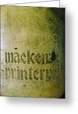 Mackenzie Printery 4 Greeting Card
