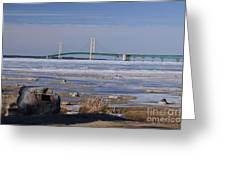 Mackinac Bridge Southwest Greeting Card