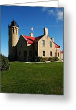 Mackinac Island Lighthouse Greeting Card