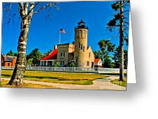Mackinac Point Light Greeting Card