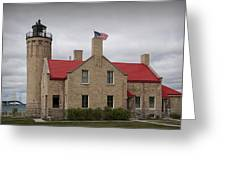 Mackinaw City Lighthouse Number 2446 Greeting Card