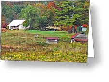 Mack's Farm In The Fall Greeting Card