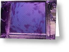 Macrophotograph Of An Intel Computer Microchip Greeting Card