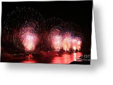 Macy's Fireworks On The Hudson Greeting Card