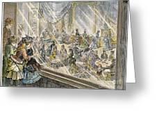 Macys Holiday Display, 1876 Greeting Card