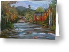 Mad River And Campton Bridge Greeting Card