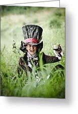 Mad Tea Greeting Card by MrsRedhead Olga