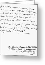 Madame De Stael Letter Greeting Card