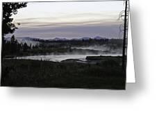 Madison River Morning At Baker's Hole Greeting Card