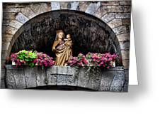 Madonna And Child Arch Greeting Card