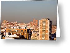 Madrid Cityscape Greeting Card