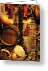 Madrid Food And Wine Still Life II Greeting Card