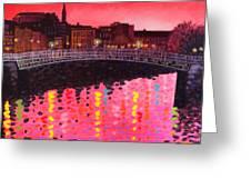 Magenta Evening Dublin Painting By John Nolan