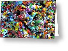 Magic  Colors  Sculpture  Nineteen  Ninety  Nine Greeting Card by Carl Deaville