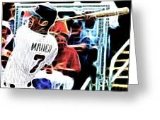 Magical Joe Mauer Greeting Card