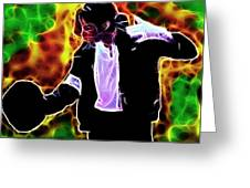 Magical Michael Greeting Card by Paul Van Scott