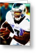 Magical Michael Vick Greeting Card by Paul Van Scott