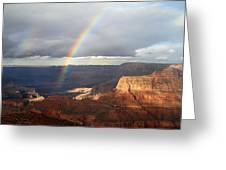 Magical Rainbow In The Grand Canyon Greeting Card
