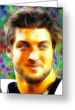 Magical Tim Tebow Face Greeting Card