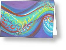 Magical Wave Water Greeting Card by Reina Cottier