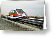 Magnetic Levitation Train Greeting Card