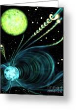 Magnetic White Dwarf Star Euvej0317-855 Greeting Card