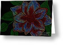 Magnolia Abstract Sketch Greeting Card