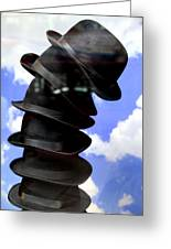 Magritte Hat Stand Greeting Card