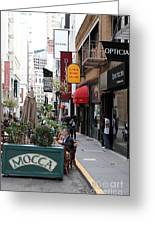 Maiden Lane San Francisco California - 5d19376 Greeting Card by Wingsdomain Art and Photography