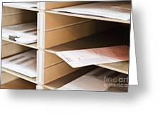 Mail In Office Mailboxes Greeting Card by Jetta Productions, Inc