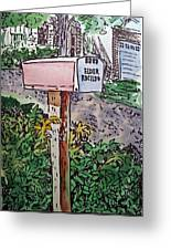 Mailbox Sketchbook Project Down My Street Greeting Card by Irina Sztukowski